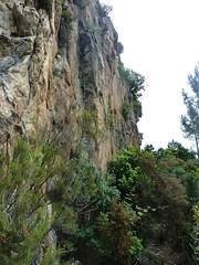 Sentier de traversée des deux cols du Castellacciu : le sentier sous la face Ouest du Castellacciu