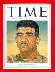 President Mohamed Naguib on the cover of the Time (Kodak Agfa) Tags: people history media egypt cover magazines timemagazine egyptians coverboy
