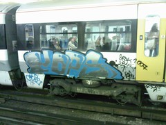 UK Steel (Charing Cross) (Hive.) Tags: uk london train graffiti cops cross south dirty mob charing outkast goodie southeastern