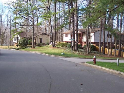 Cary, NC Oakwood Heights street scene