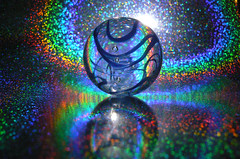 The Cosmos (Canicuss) Tags: blue macro glass rainbow hologram panasonic marbles marble rainbows lightrefraction fz7 theoffbeat thecosmos anawesomeshot superhearts platinumheartaward canicuss