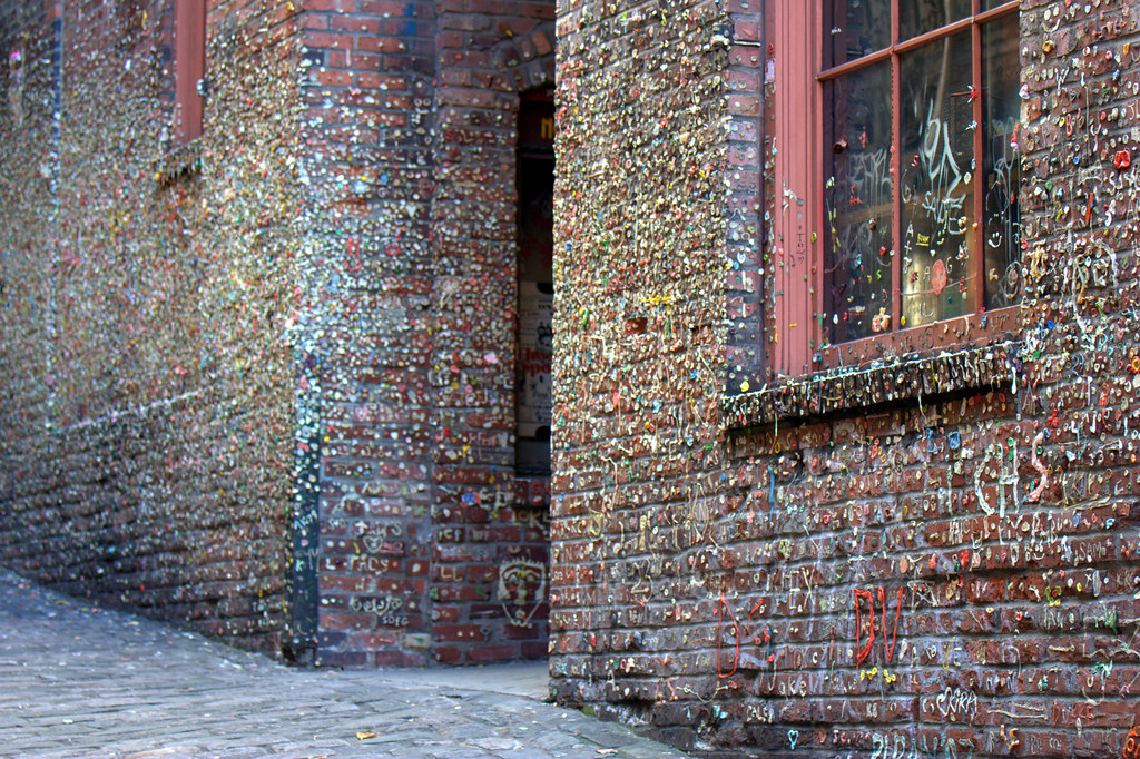 foot high 50 foot wide wall gum check gum wall