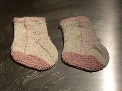 Suede baby booties