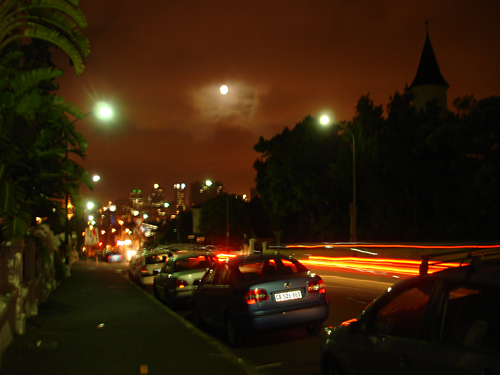 Kloof Nek Road, Cape Town, Late At Night