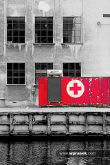 First aid box (wprasek) Tags: red building architecture facade copenhagen denmark outside exterior box decay grunge structures first dirty architectural retro aid health dk ugly rough citycentre firstaid edifice healthiness assignment8 sjaellandsealand warrenprasek foliourban sharedurbanspace xoodu wprasek wwwxooducom wwwwprasekcom