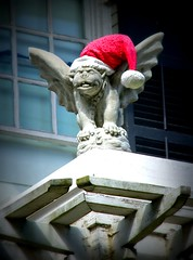 Even Gargoyles like Christmas! (www.LKGPhoto.com) Tags: santa christmas urban holiday hat statue architecture interestingness published object seasonal gargoyle explore interestingness234 i500 wwwlkgphotocom