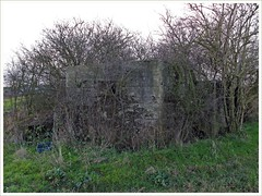 Canewdon: Lambourne Hall AAA Pillbox (Community Archive) Tags: uk england ackack mod war military wd essex defence aaa pillbox antiaircraft canewdon lambournehall fw323 s0016963