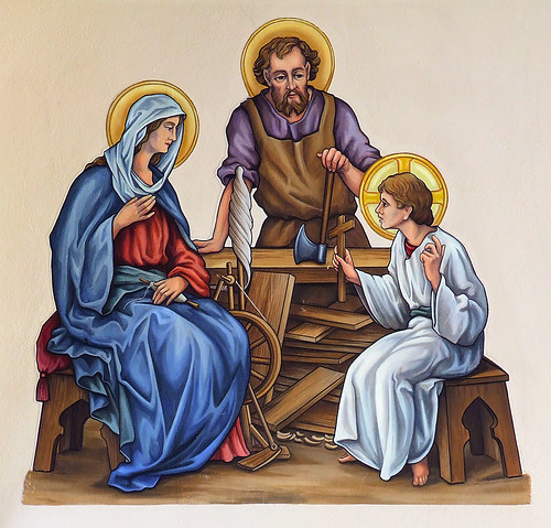 Saint Joseph Roman Catholic Church, in Zell, Missouri, USA - painting of the Holy Family