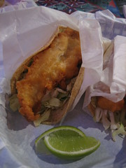Fish Tacos (eekim) Tags: food fish lime halfmoonbay fishtacos
