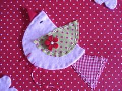 Detalhe (Feltro com amor) Tags: capa tecido carderno