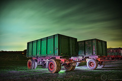 (Andreas Reinhold) Tags: longexposure green night rural truck dark farm flash country trucks trailer bergischesland trailers mettmann strobist andreasreinhold