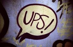 UPS! (almogaver) Tags: street art film analog 35mm painting graffiti mural vista catalunya agfa dibuix pintura 400asa portbou analogic agfavista400 agfavista almogaver davidroca