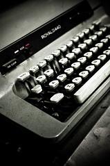 Royalty (TerryJohnston) Tags: urban black macro typewriter dark keys dof bokeh michigan laptop gritty font type grandrapids typeface grap amazingmich beforecomputers