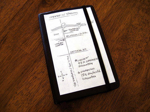 Moleskine Stick Note Map Hack