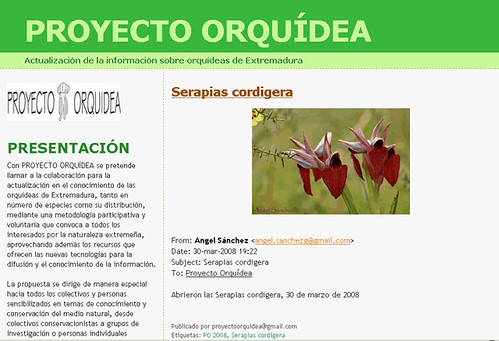 Proyecto Orquídeas de Extremadura