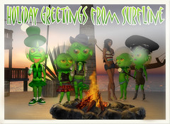 Greenies Postcard:Greenies Gang