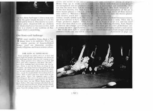 Burlesque Article in Fortune Magazine, February 1935