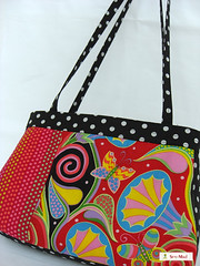 """not a funeral"" (sew-mad) Tags: colorful pattern handmade sewing handbag tutorial notafuneral sewmadbadge sewmad"