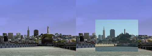 Google Earth vs. Reality - San Francisco from the Bay