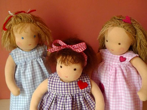 Three little dolls for three little sisters