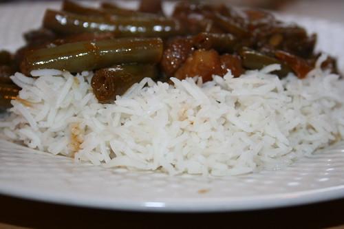 Babi Ketjap met witte rijst recept