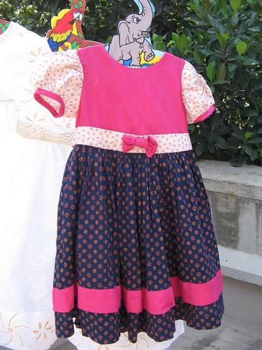 Test pattern for flower girls dresses
