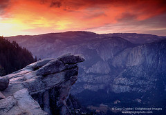 Glacier Point Sunset, Yosemite (enlightphoto) Tags: california sunset sky usa mountain rock horizontal clouds landscape nationalpark scenic cliffs sierra valley yosemite glacierpoint yosemitevalley 10faves aplusphoto holidaysvacanzeurlaub frhwofavs garycrabbe enlightenedimages enlightphotocom trailspotting4mile