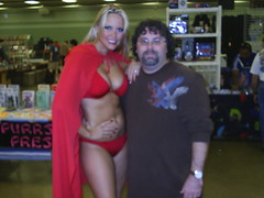 me and playmate Audra Lynn (aka Thong Girl)