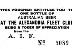 a free bottle of beer (Lulybelle) Tags: beer ww2 voucher vintagephotos australiansailor evacuationofgreece