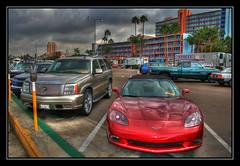 the harbour cars... (LGBuli) Tags: california ca usa cars car america canon palms unitedstates jeep sandiego parking unitedstatesofamerica northamerica westcoast hdr highdynamicrange hdri parkingarea tonemapped eos400d canoneos400d 102007 canoneosdigitalrebellxt