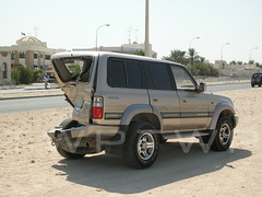 Something's Missing... (WanderWorks) Tags: car crash toyota land cruiser qatar