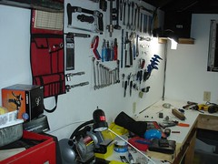 Brandon's tool board in the Man Cave 017 (Brandon448) Tags: bicycle workshop mancave parktool toolboard