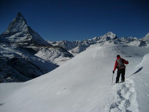 Matterhorn und Dent Blanch , Kanton Wallis , Schweiz