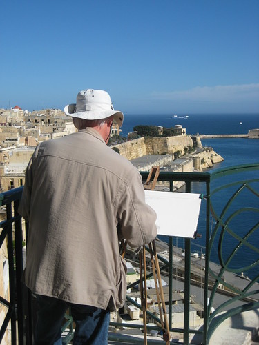 Painter at Grand Harbour