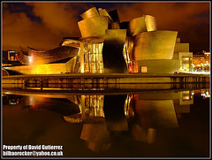Bilbao Yellow Color Guggenheim Reflection at Night (david gutierrez [ www.davidgutierrez.co.uk ]) Tags: city urban color reflection building colors yellow architecture night buildings reflections dark spectacular frank geotagged photography photo interestingness spain arquitectura europe ship cityscape darkness image dusk space centre cities cityscapes gehry center structure architectural bilbao explore espana nighttime finepix architektur nights fujifilm sensational guggenheim metropolis reflexions topf100 frankgehry bizkaia impressive basquecountry nightfall ghery municipality edifice cites 100faves s6500fd mywinners s6000fd anawesomeshot fujifilmfinepixs6500fd platinumheartaward