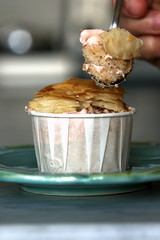 Walnut Cupcake Topped with Rose White Chocolate Mousse and Baklava (chockylit) Tags: cupcakes walnut cupcake whitechocolate mousse baklava rosepetal