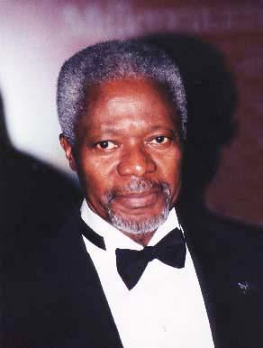 KOFI ANNAN,  Secretary-general of the United Nations(UN), Diplomat