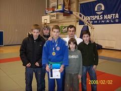 Iš kairės D.Kasteckas, L.Dobrovalskis, R.Diburys, treneris A.Kasteckas, A.Kasteckas ir A.Oganian.