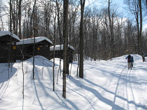 Outhouses by the ski trail