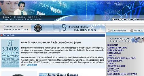 Más información sobre el supuesto récord de Jaime García Serrano