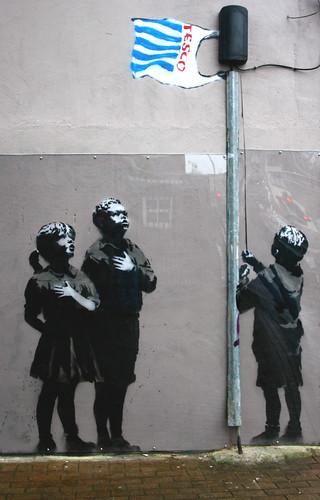 Banksy Tesco Petrol Bomb A3 A4 Poster Print
