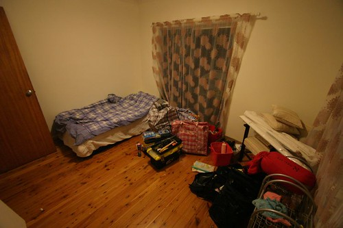 My room at Ben's place in Manly Vale.