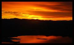 Scream (Lazyousuf) Tags: sunset shadow arizona sky lake