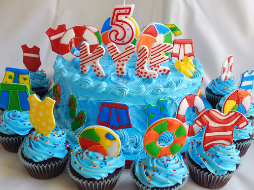swim party cake