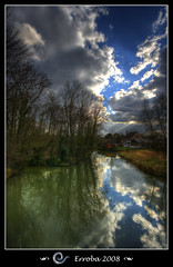Reflections (Erroba) Tags: blue trees sky house green water clouds photoshop canon reflections river geotagged belgium tripod sigma tips 1020mm erlend soe hdr mechelen 3xp photomatix leuvensevaart tonemapped tonemapping outstandingshots 400d mywinners anawesomeshot amazingshots superbmasterpiece megashot excellentphotographerawards erroba robaye erlendrobaye baarbeek