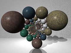 Doyle Sculpture (fdecomite) Tags: stone java packing pit sphere math doyle flush povray riemann spriral imagej