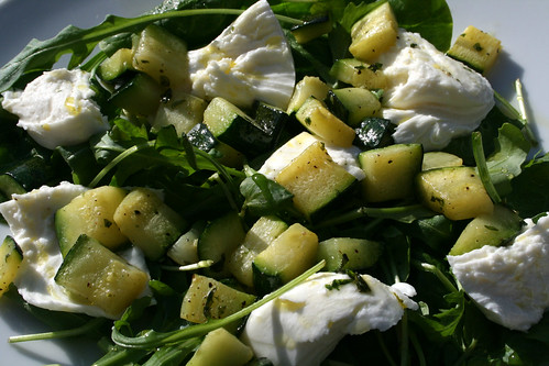 Courgette, Mint and Buffalo Mozzarella Salad