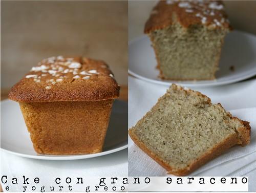 cake di grano saraceno e yogurt greco
