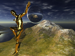Splash of Gold (ViaMoi) Tags: mountain canada man guy photoshop gold design 3d image render ottawa imagist betterthangood viamoi