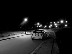 MINI alone in the night (picsfrombcn) Tags: barcelona sport speed john rally mini s el racing clot cooper bmw works montjuic montjuich jcw formulamini motoringunderground masmini